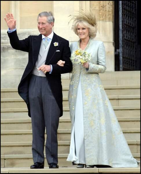 Le prince Charles et Camilla Parker Bowles se marient finalement en 2005, après une rupture en 1981 et une liaison scandaleuse dans le dos de la princesse Diana