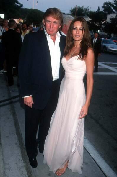 Donald Trump et Melania en 1999, avant leur séparation en janvier 2000