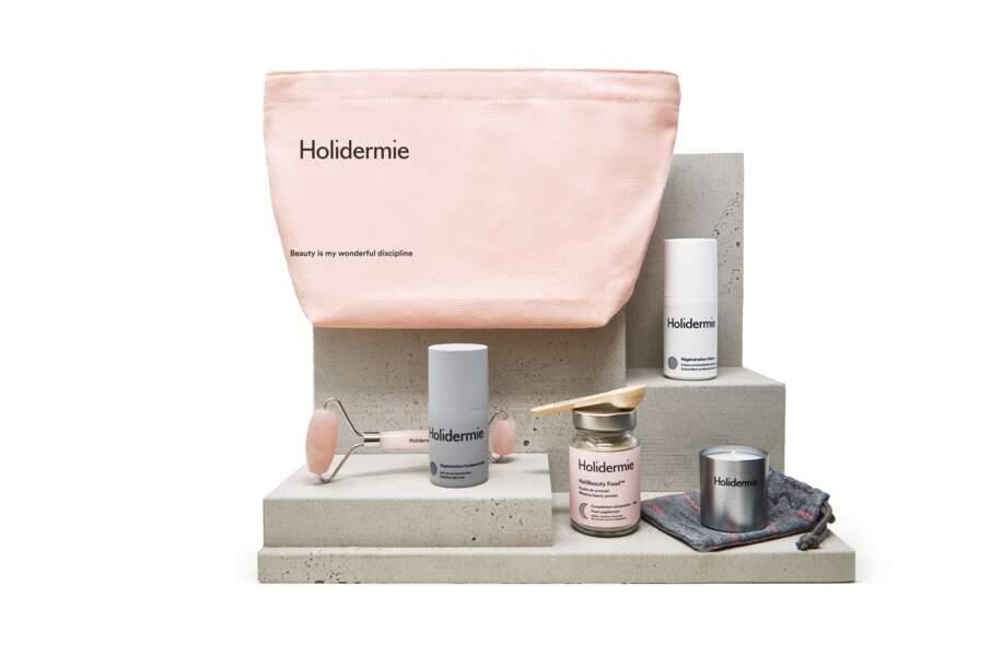 La Trousse Beauté Rituel Holistique du soir, Holidermie, 138€, holidermie.com