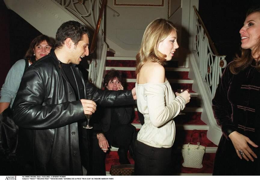 Nagui et Mélanie Page (2002)