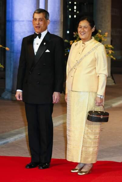 """Rama X et sa soeur, la """"princesse Ange""""."""
