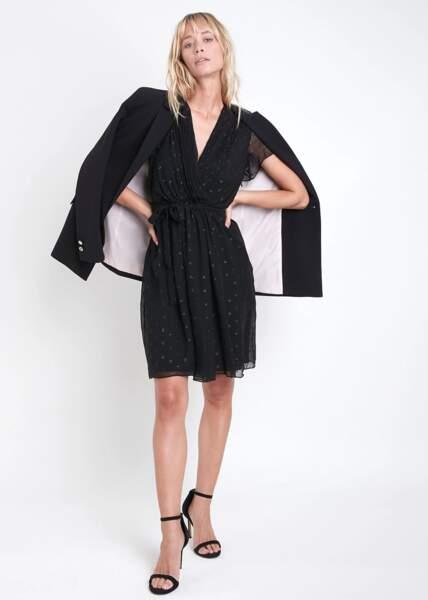 Robe Charline en soie et lurex, 170 €, Maison 1 2 3.