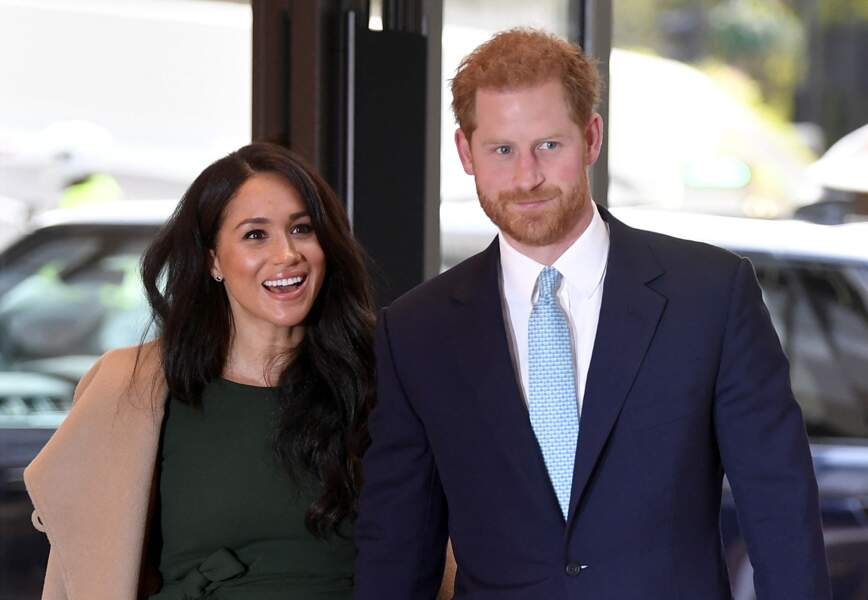 Le prince Harry et Meghan Markle arrivent à la cérémonie des WellChild Awards à Londres, le 15 octobre 2019