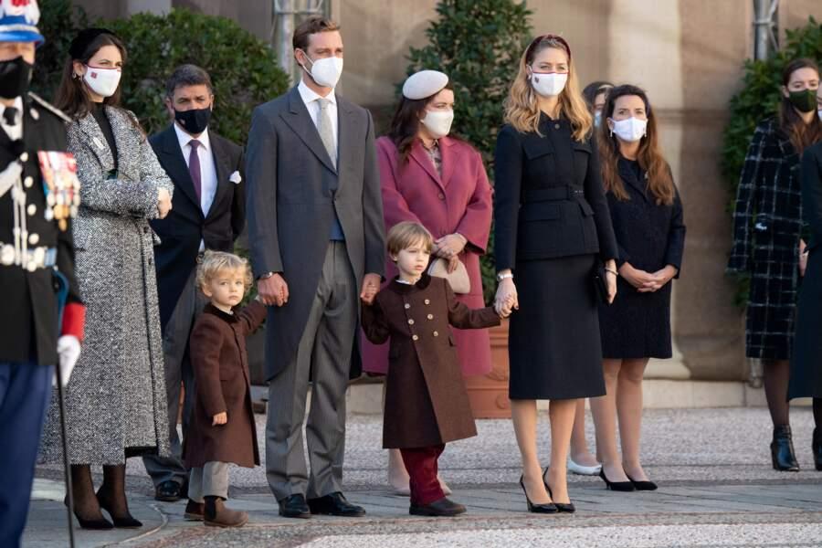 Même masquée, la jeune génération de la famille princière de Monaco reste stylée