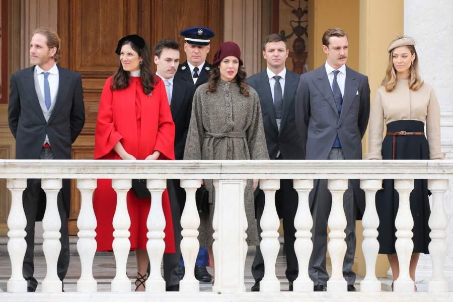Andrea Casiraghi, sa femme Tatiana Santo Domingo, Louis Ducruet, Charlotte Casiraghi, Gareth Wittstock, Pierre Casiraghi et sa femme Beatrice Borromeo