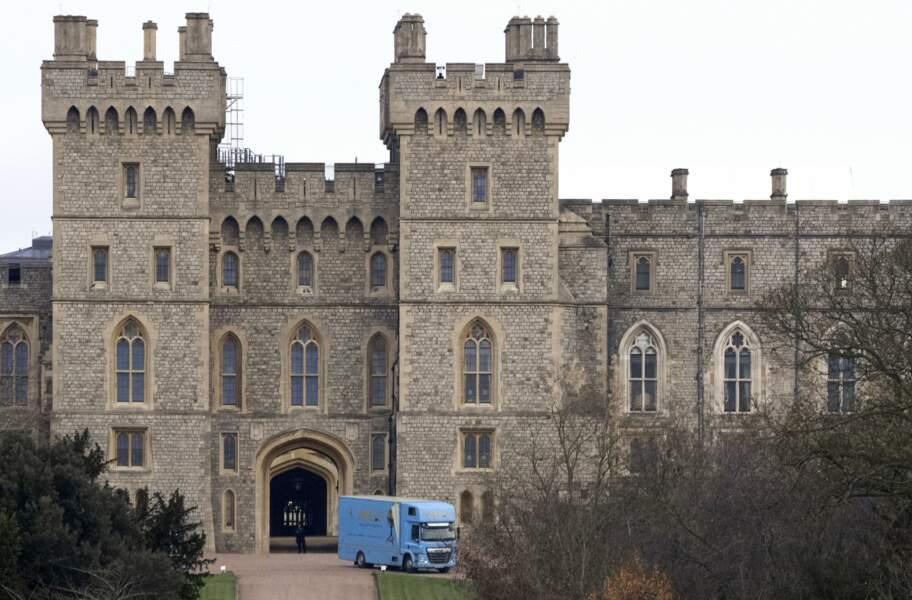 Un camion de déménagement de la société Abels a été aperçu devant le château de Windsor, situé à proximité immédiate de Frogmore, alors qu'il acheminait les meubles de la princesse Eugénie