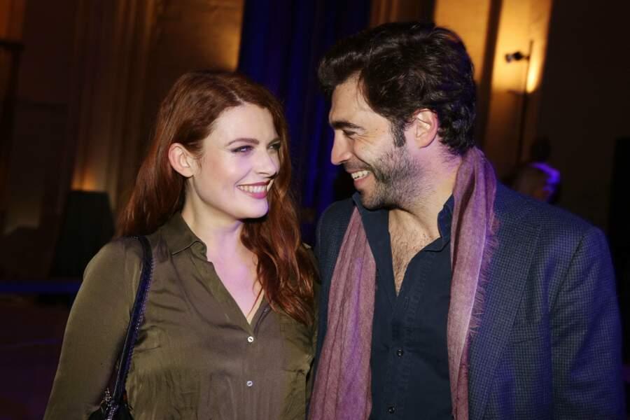 Elodie Frege et son compagnon Gian Marco Tavani lors de la soirée de lancement de la marque de Montre Trilobe, au Musée des Arts et Métiers à Paris, le 17 décembre 2018