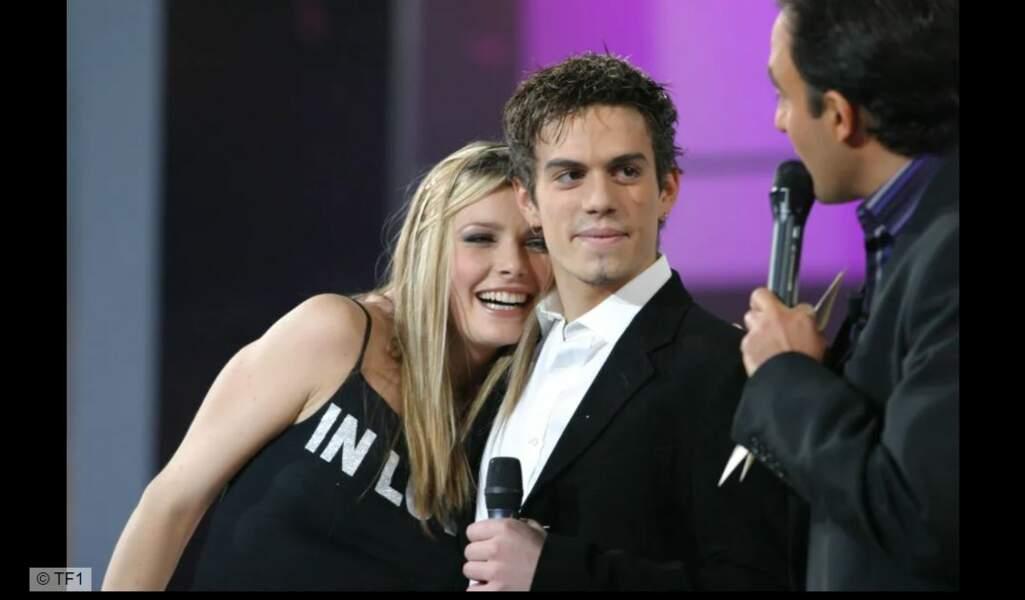Elodie et Edouard sur le plateau de la Star Academy en 2003