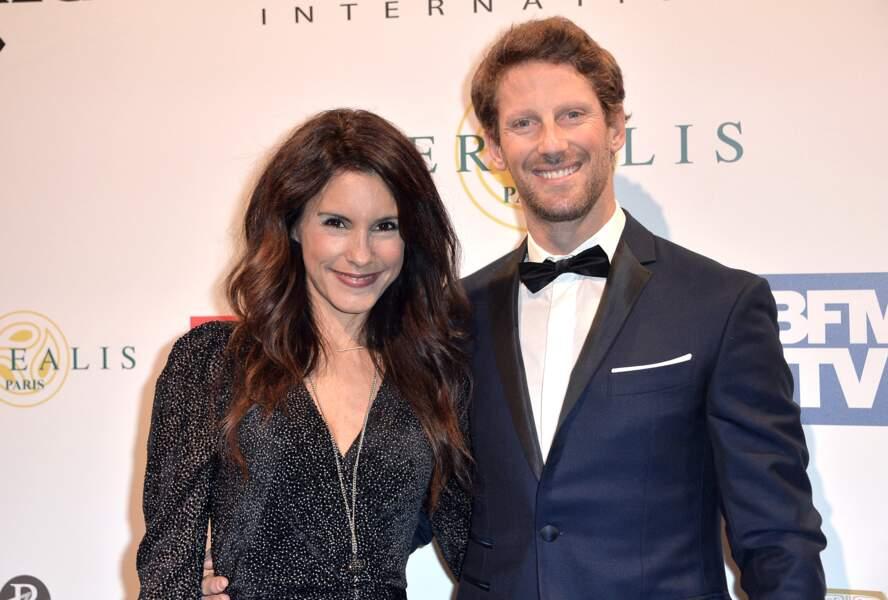 Romain Grosjean et Marion Jollès au Festival Automobile International, en janvier dernier.