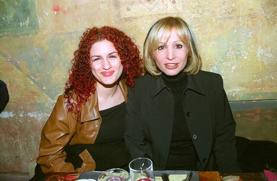 Moment de complicité entre Larusso et sa maman Solange en 2001.