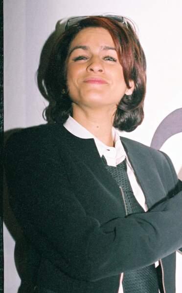 """Larusso, artiste engagée lors de la soirée """"Faire face au SIDA"""" en 2003."""