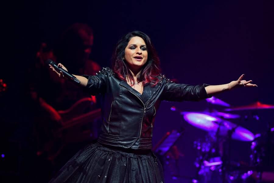 """Larusso lors du concert """"Stars 80"""" au Palais Nikaïa à Nice en 2018."""