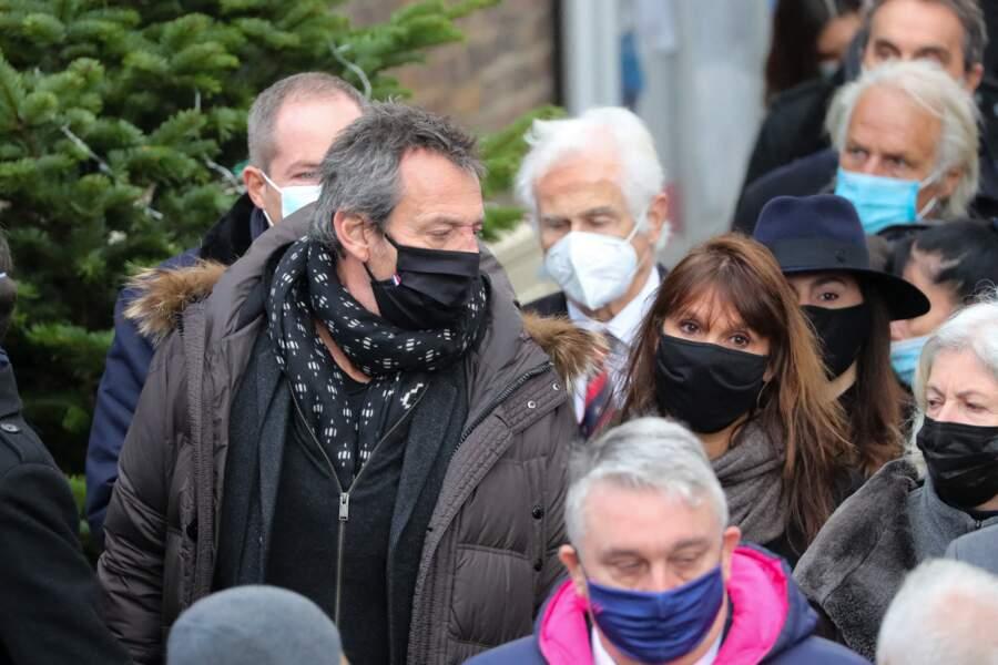 Jean-Luc Reichmann et sa femme Nathalie sont également venus rendre hommage à Christophe Dominici.