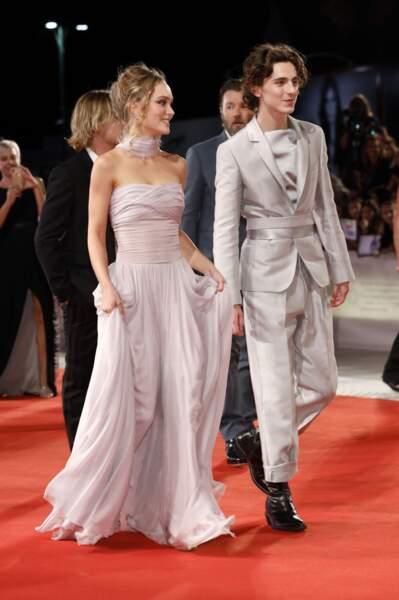 Lily-Rose Depp et Timothée Chalamet