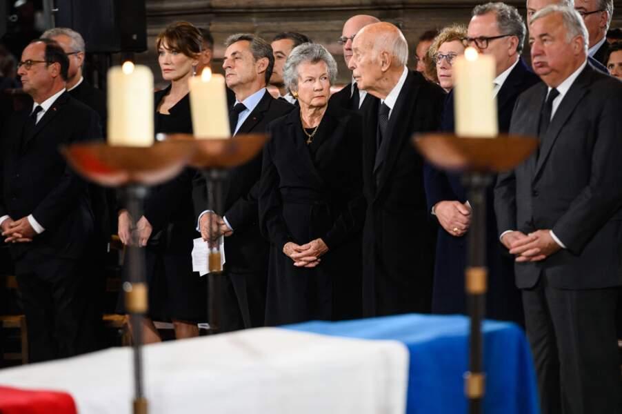 Valéry Giscard d'Estaing et sa femme Anne-Aymone aux obsèques de Jacques Chirac en 2019.