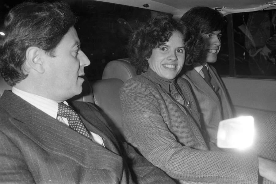 Valérie-Anne Giscard d'Estaing entourée de son premier mari Gérard Montassier et de son frère Henri Giscard d'Estaing en 1979.