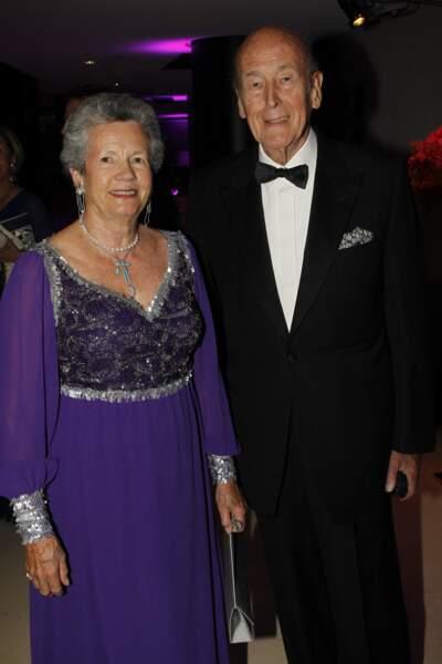 Valéry Giscard d'Estaing et sa femme Anne-Aymone très élégants lors d'un gala à l'Opéra Bastille en 2012.