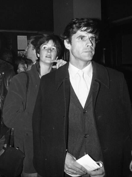 Jacinte Giscard d'Estaing et son époux Philippe Guibout en 1980.