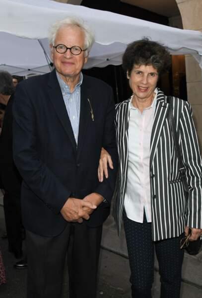 La fille de Valéry Giscard d'Estaing, Valérie-Anne et son mari Bernard Fixot en 2019.
