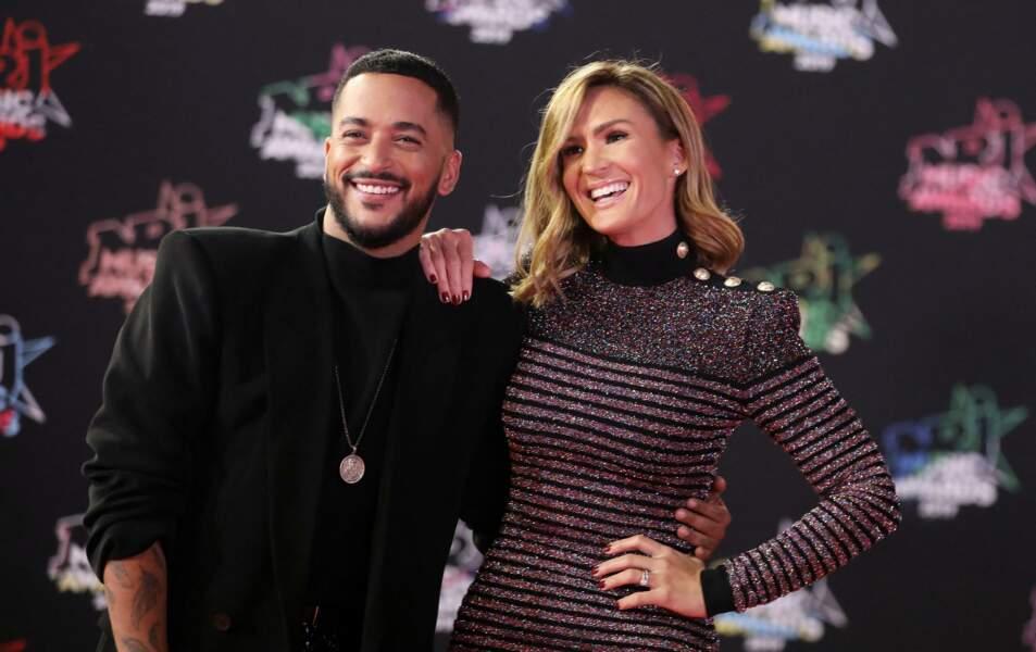 Slimane et Vitaa au photocall de la 21ème édition des NRJ Music Awards au Palais des festivals à Cannes le 9 novembre 2019
