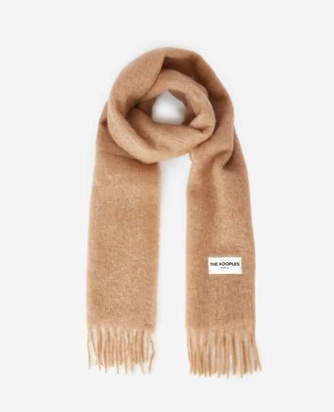 Echarpe maxi en alpaga, mohair et laine mélangés - The Kooples, 119 €