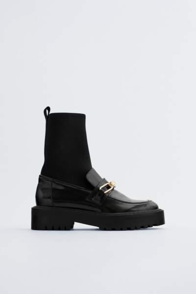 Mocassins à chaussettes, 49,95 €, Zara