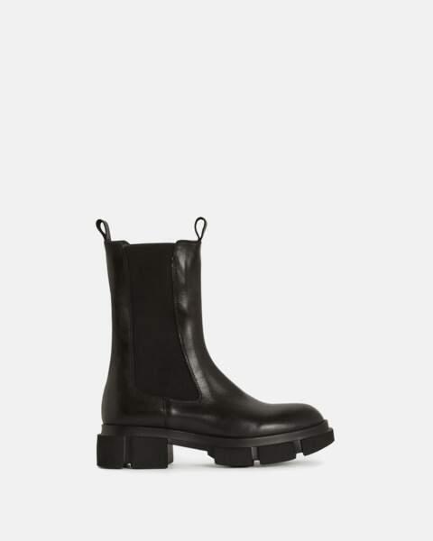 Boots en cuir à semelle crantée - Minelli, 179 €