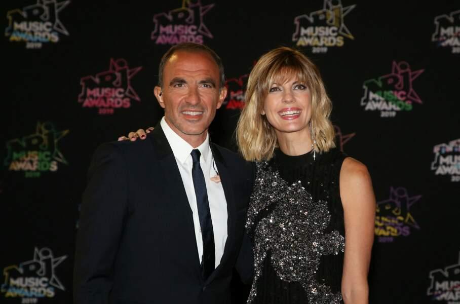 Nikos Aliagas et sa compagne Tina - 21ème édition des NRJ Music Awards au Palais des festivals à Cannes le 9 novembre 2019