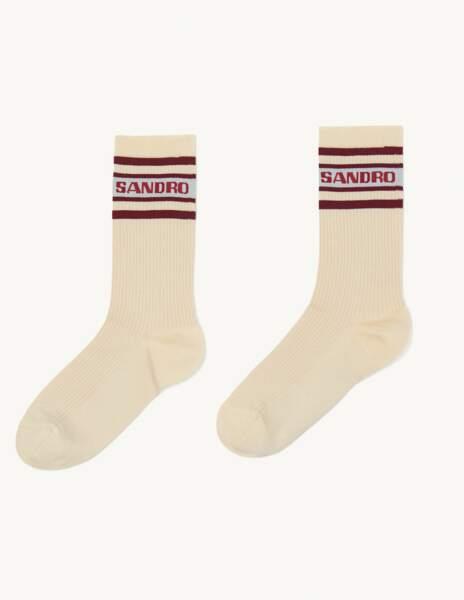 Chaussettes avec rayures contrastées - Sandro - 16 €