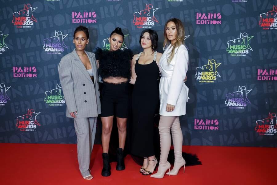Amel Bent, Imen ES, Camelia Jordana et Vitaa, avec encore une tenue différente, réunies sur le tapis rouge des NRJ Music Awards 2020.