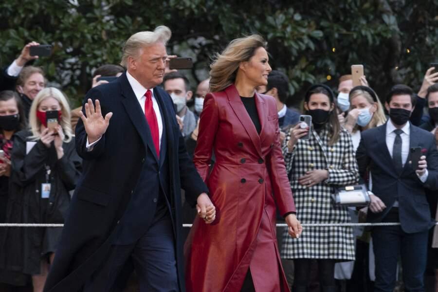 En Géorgie, accompagné de Melania, Donald Trump a encore refusé d'admettre sa défaite à l'élection présidentielle américaine.