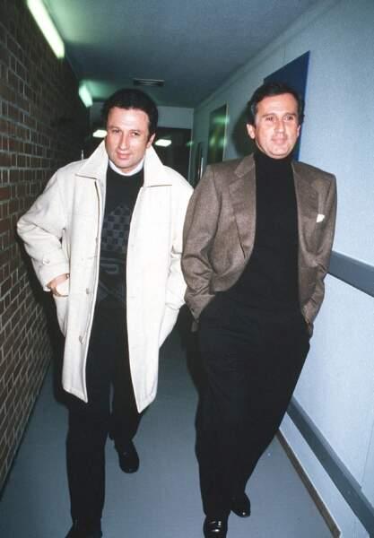Michel Drucker a toujours été très proche de son frère, Jean Drucker (décédé en 2003). (Ici en 1993)