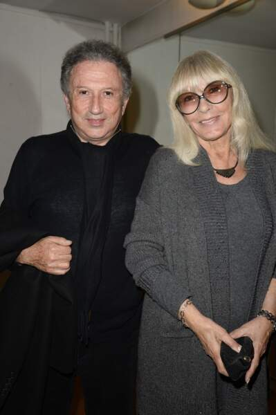 Michel Drucker avec Dany Saval, son plus fidèle soutien, en 2014.