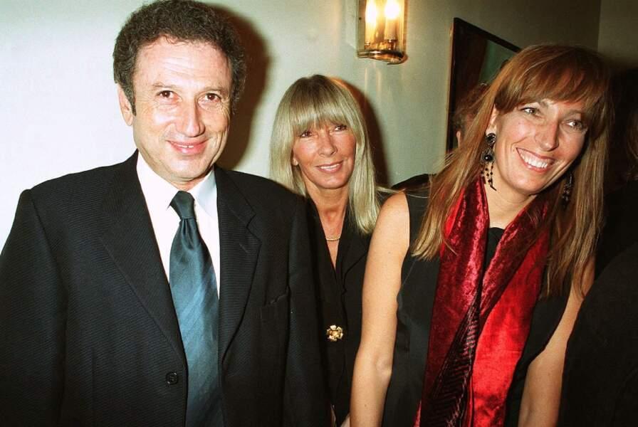Michel Drucker, Dany Saval et Stéphanie Jarre, une famille recomposée et heureuse (en 2001)