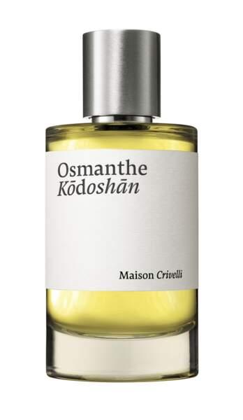 Eau de parfum Osmanthe Kōdoshān, Maison Crivelli, 180 €