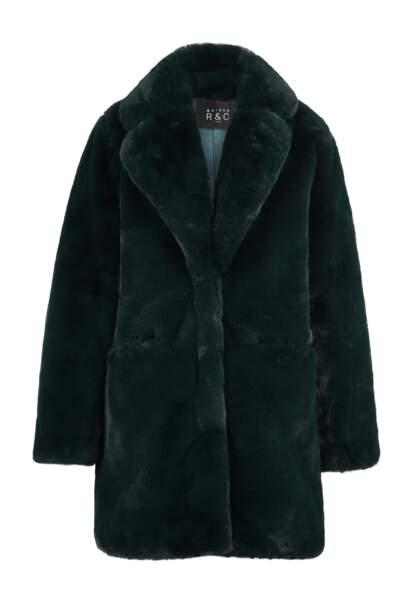 Manteau en fausse fourrure, Chiara Emerald, 425€, Maison R&C