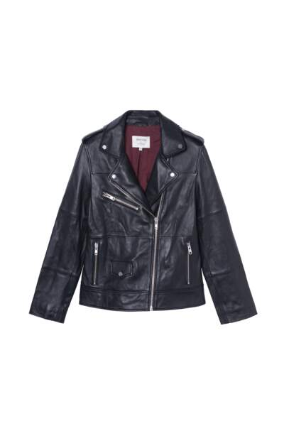 Veste en cuir recyclé, 349€, Jane Blue