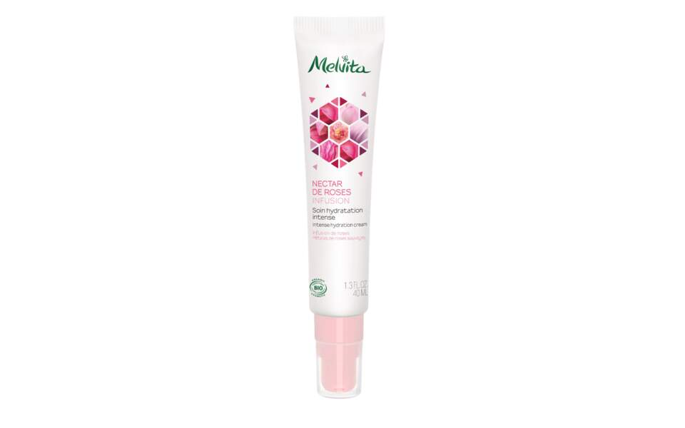 Soin Hydratation Intense Nectar de Roses, Melvita, 25,50 €