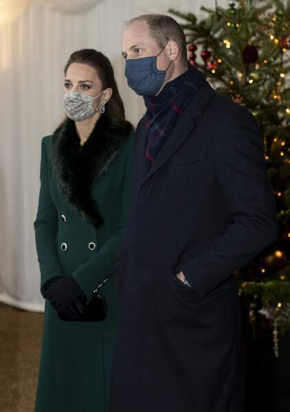 Kate et le prince William devant le château de Windsor, le 8 décembre 2020.