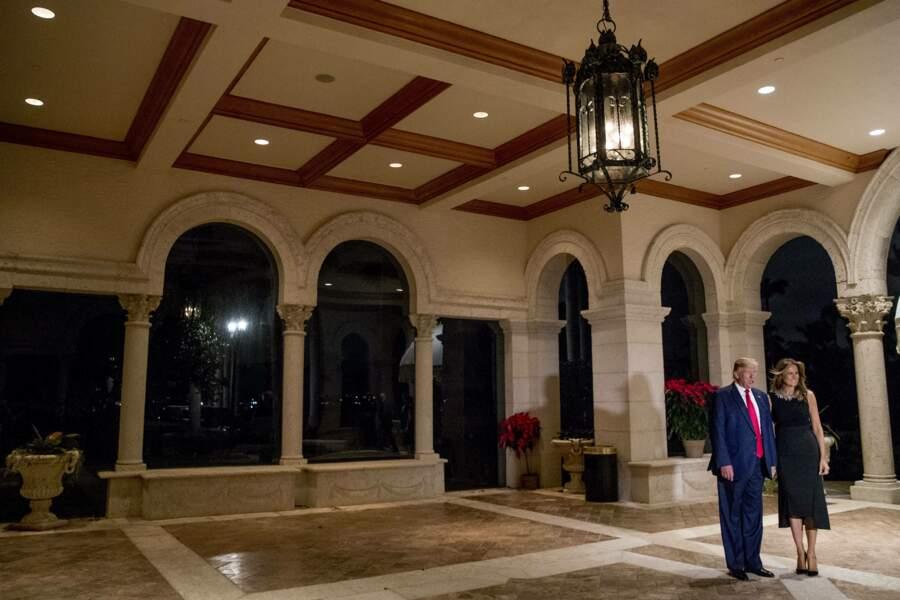 En 2019, Donald Trump a passé Noël et le Nouvel an avec sa famille à Mar-a-Lago, en Floride.