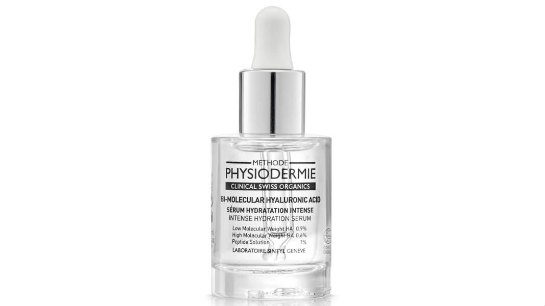 Sérum hydratation intense à l'acide hyaluronique BIO, Physiodermie, 60 €