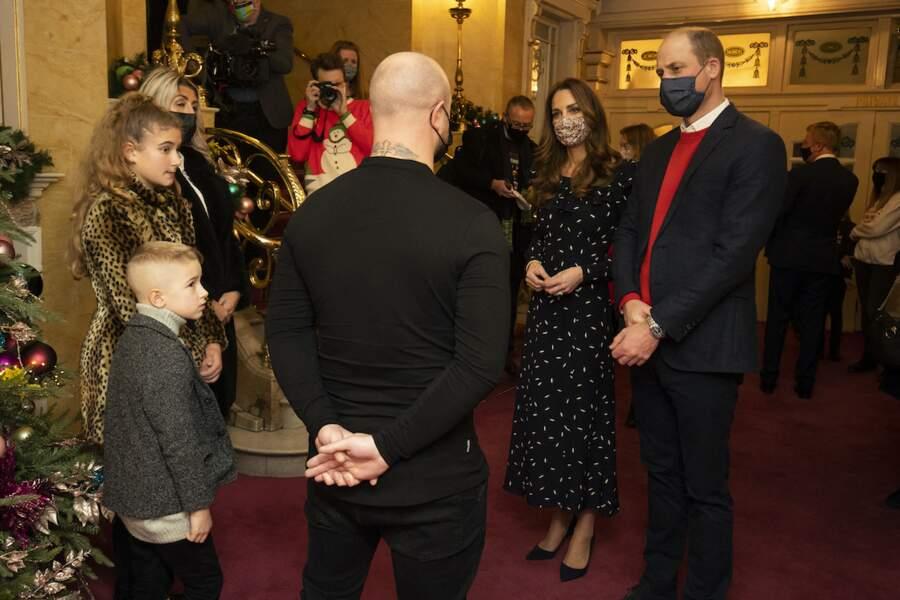 Au London Palladium, le prince William et Kate Middleton se sont adressés aux personnes mobilisées pendant la crise du Covid-19