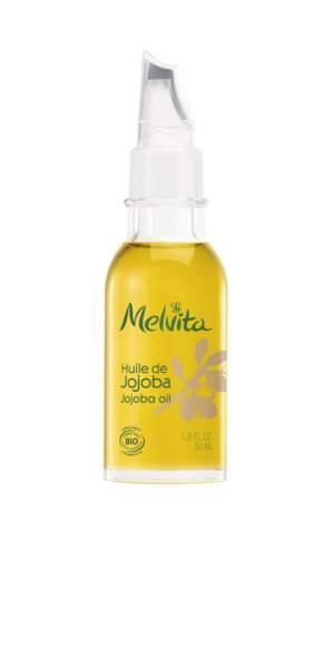 Huile de Jojoba, Melvita, 14€.