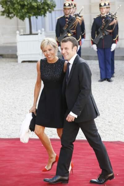 Pour leur première apparition en couple, Brigitte Macron avait sorti une mini robe