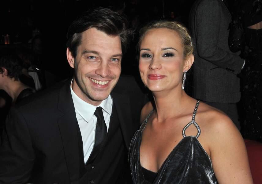 Elodie Gossuin et son mari Bertrand Lacherie en 2012 pour l'élection de Miss Prestige national.