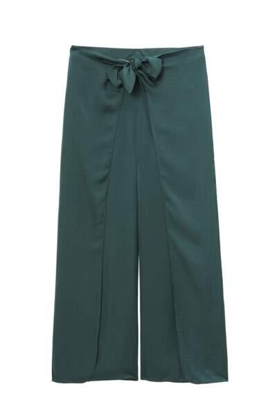 Pantalon Vert foncé noué devant, Etam, 29,99 €.
