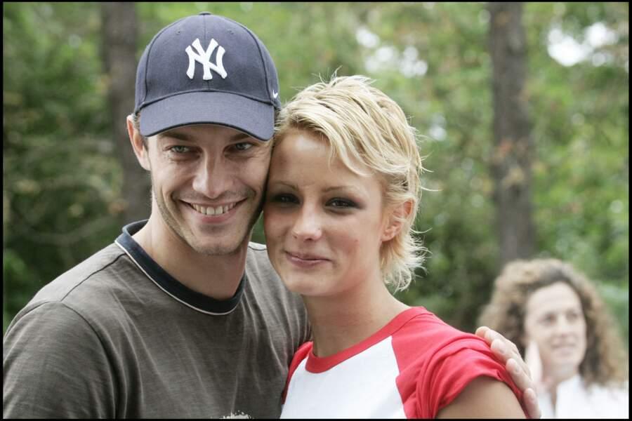Elodie Gossuin très tendre avec Bertrand Lacherie en 2005.
