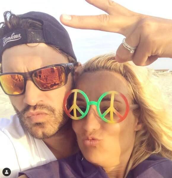 Elodie Gossuin et son mari Bertrand Lacherie s'éclatent sur les réseaux sociaux, comme ici en août 2018.
