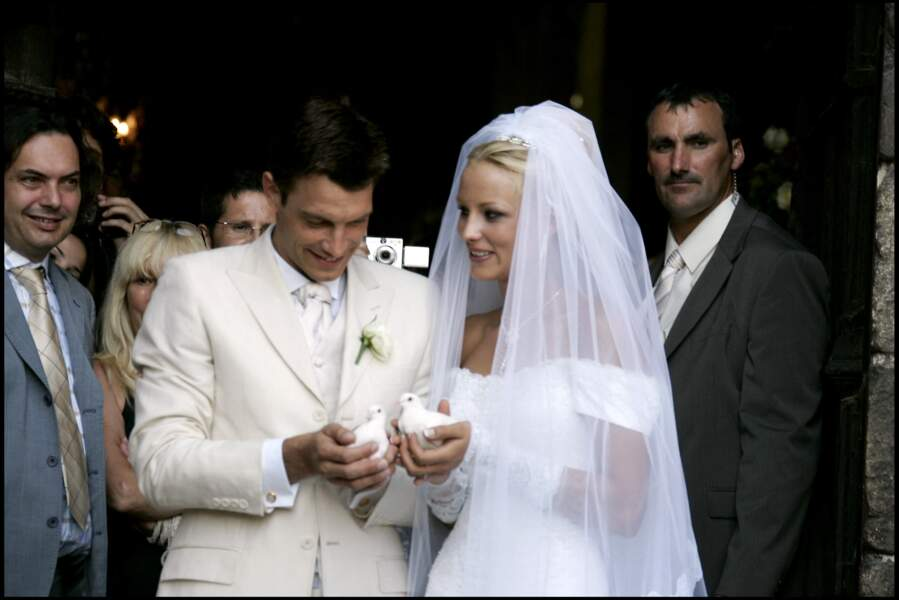 Elodie Gossuin et Bertrand Lacherie se sont mariés à Compiègne en 2006.