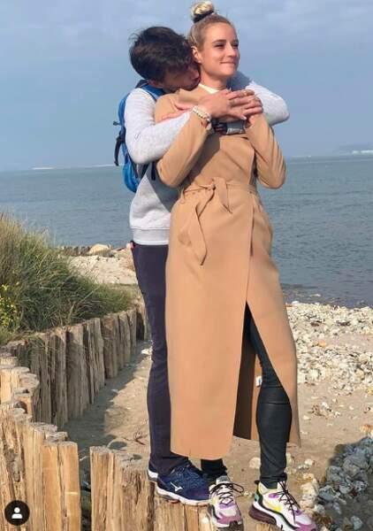 Bertrand Lacherie et Elodie Gossuin lors d'une parenthèse en amoureux en Normandie en octobre 2020.